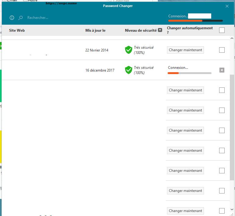 Dashlane Utilisation de Password Changer image 2