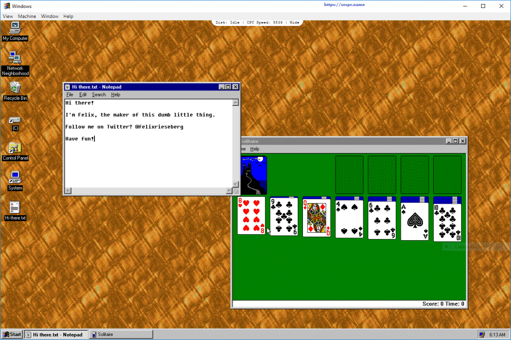Et si vous essayiez Windows 95 ? Sospc.name image 3