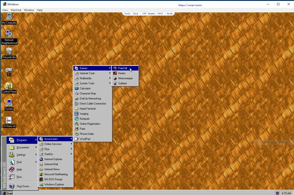 Et si vous essayiez Windows 95 ? Sospc.name image 6