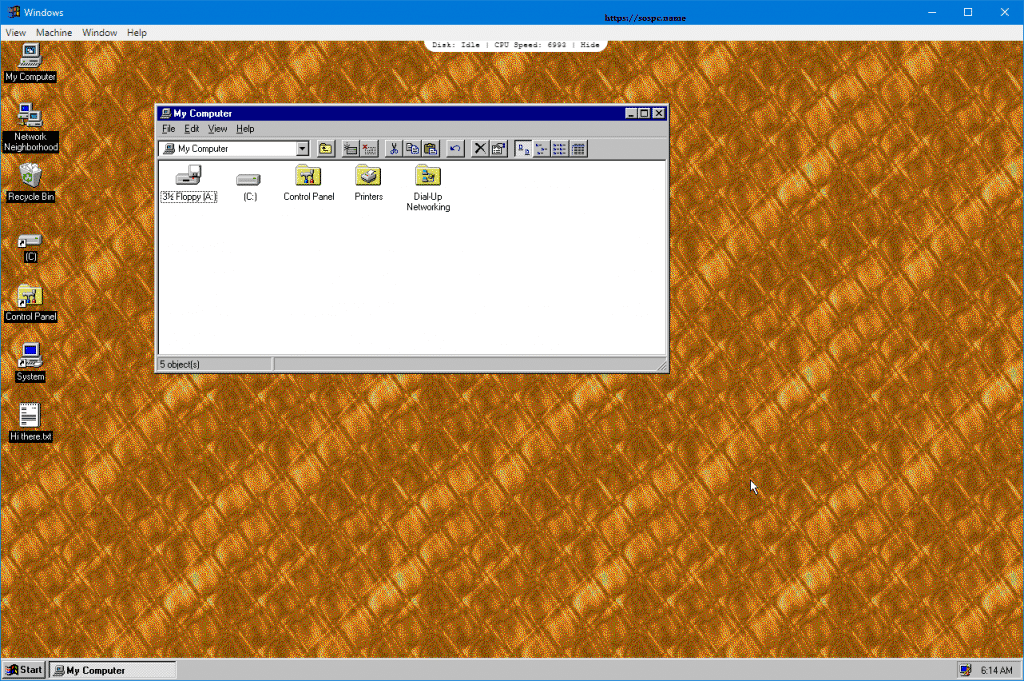 Et si vous essayiez Windows 95 ? Sospc.name image 7