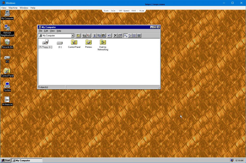 Et si vous essayiez Windows 95 ? Sospc.name image 7