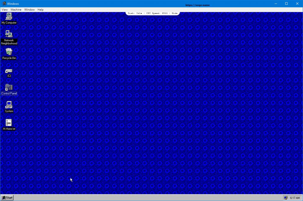 Et si vous essayiez Windows 95 ? Sospc.name image 8