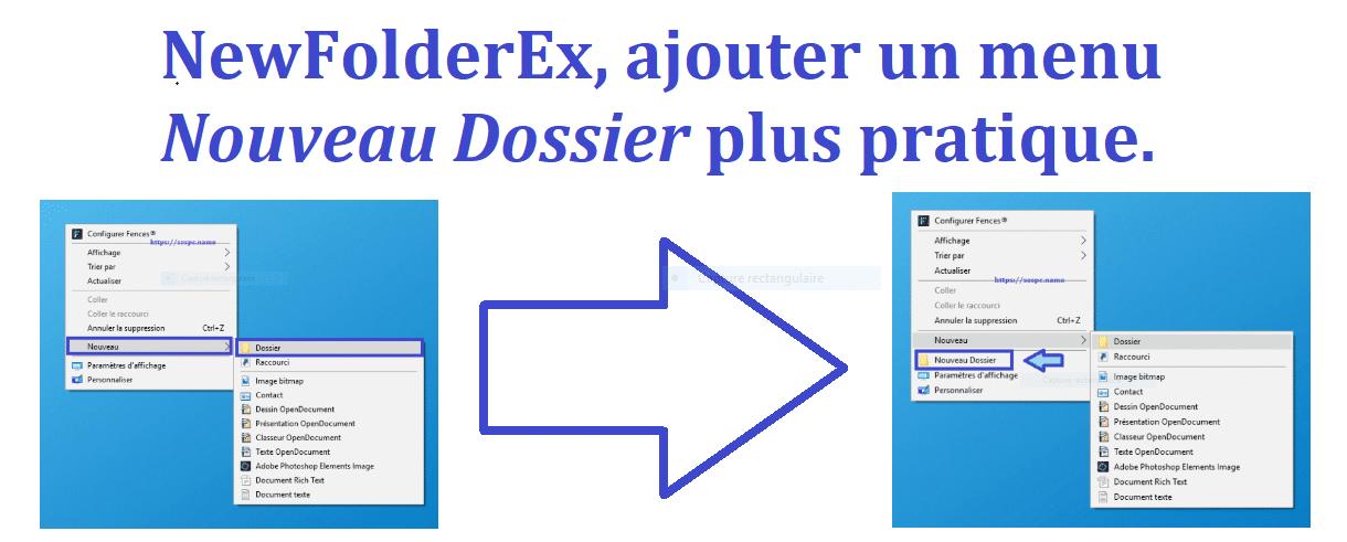 NewFolderEx, ajouter un menu Nouveau dossier plus pratique.