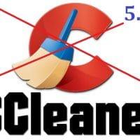 N'installez pas la version 5.45 de CCleaner !