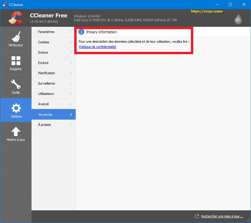 N'installez pas la 5.45 de CCleaner capture 17