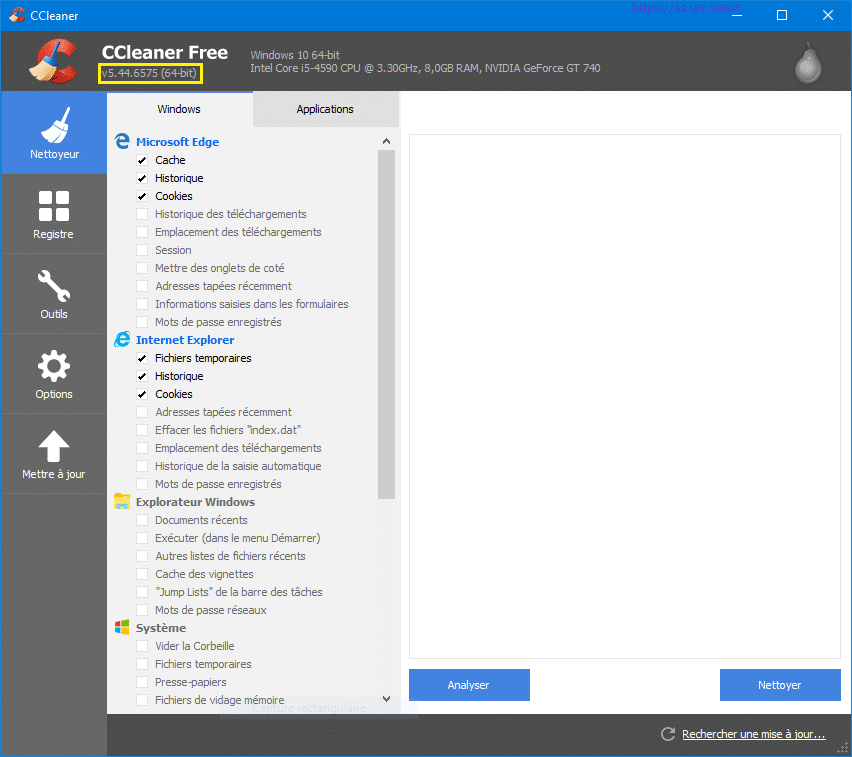 N'installez pas la 5.45 de CCleaner capture 1