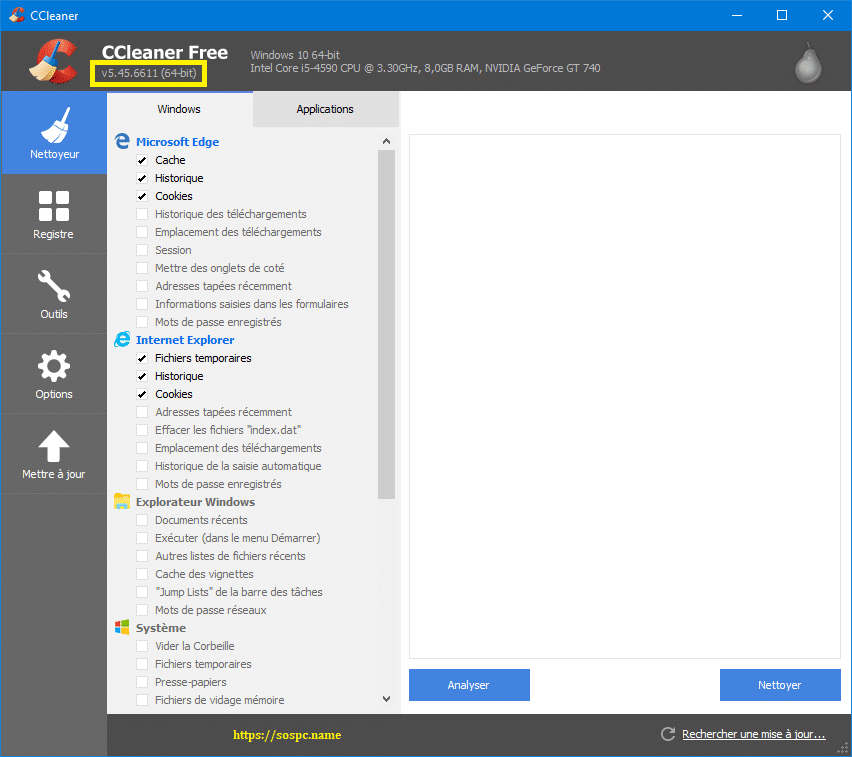 N'installez pas la 5.45 de CCleaner capture 4