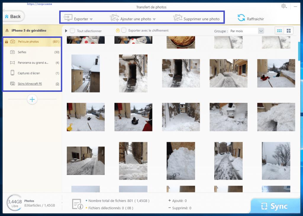 WinX MediaTrans : transférer vos photos, vidéos et musiques tutoriel capture 13
