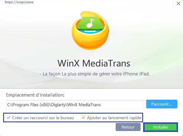 WinX MediaTrans : transférer vos photos, vidéos et musiques tutoriel capture 3
