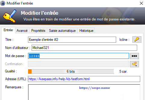 KeePass, tutoriel image 4