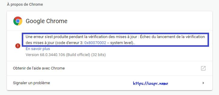 empêcher Google Chrome de se mettre à jour image 5