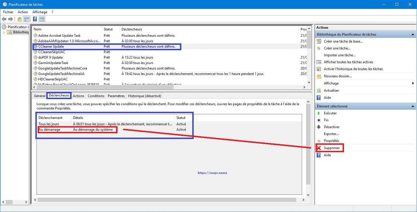 Bloquer mise à jour automatique CCLEANER SOSPC