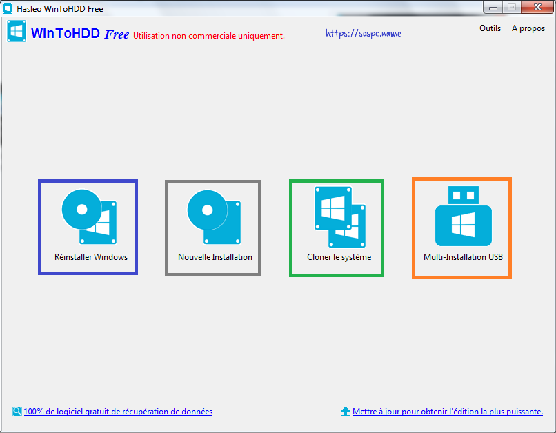 WinToHDD réinstaller Windows sans DVD, ni Clé USB tutoriel image 9