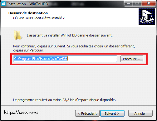 WinToHDD réinstaller Windows sans DVD, ni Clé USB tutoriel image 4
