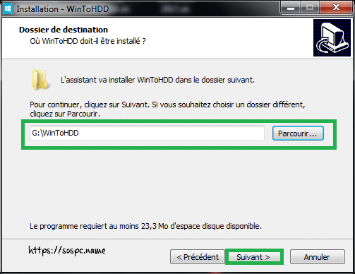 WinToHDD réinstaller Windows sans DVD, ni Clé USB tutoriel image 5