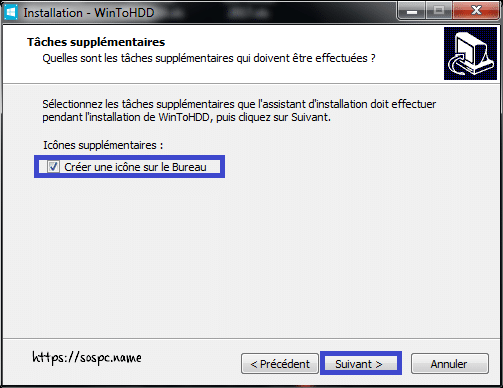 WinToHDD réinstaller Windows sans DVD, ni Clé USB tutoriel image 6