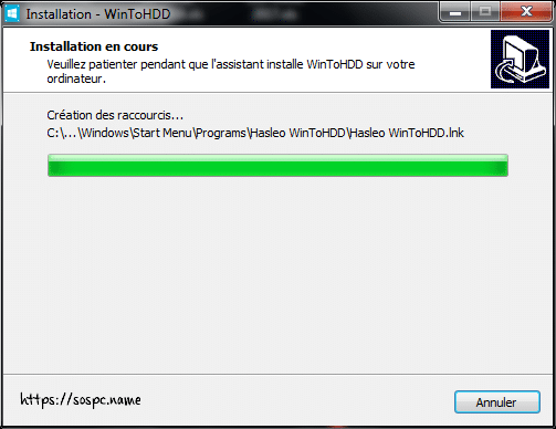 WinToHDD réinstaller Windows sans DVD, ni Clé USB tutoriel image 7