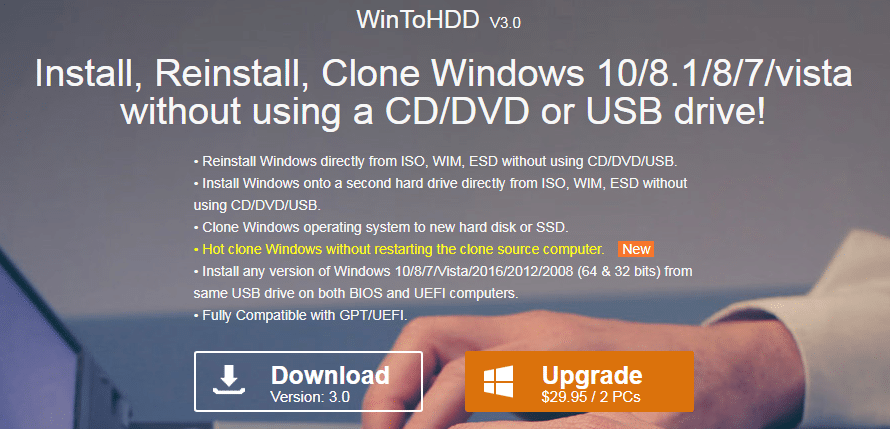WinToHDD téléchargement.