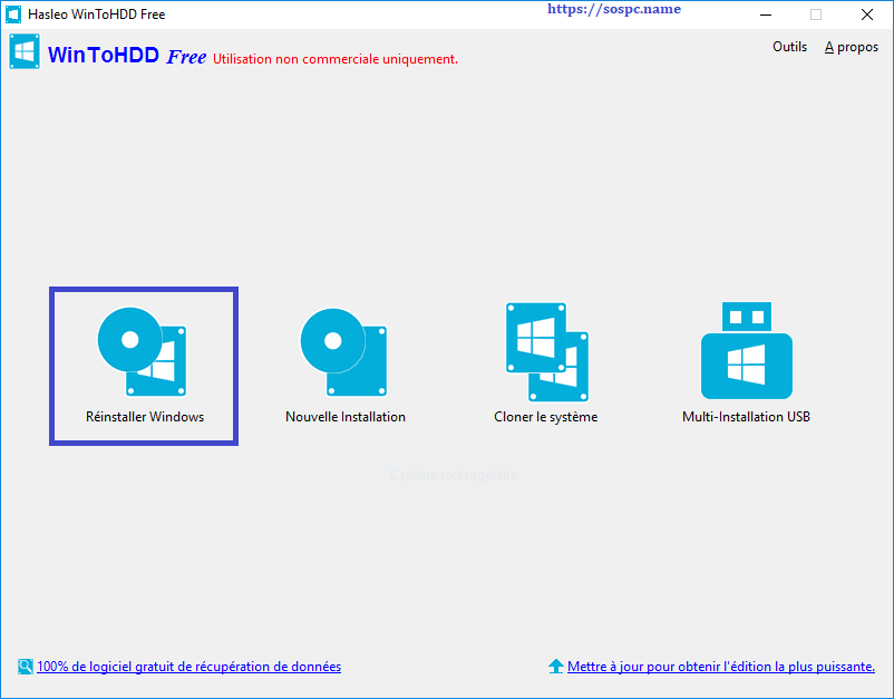 WinToHDD réinstaller Windows sans DVD, ni Clé USB tutoriel image 12