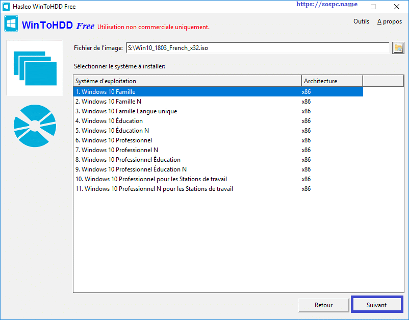 WinToHDD réinstaller Windows sans DVD, ni Clé USB tutoriel image 14