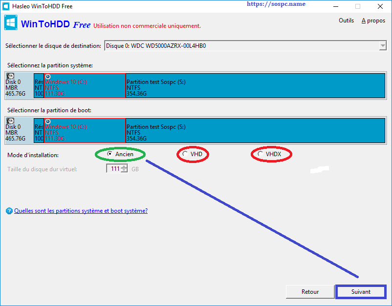 WinToHDD réinstaller Windows sans DVD, ni Clé USB tutoriel image 15