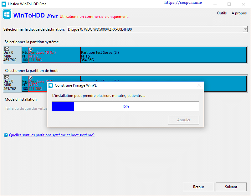 WinToHDD réinstaller Windows sans DVD, ni Clé USB tutoriel image 17