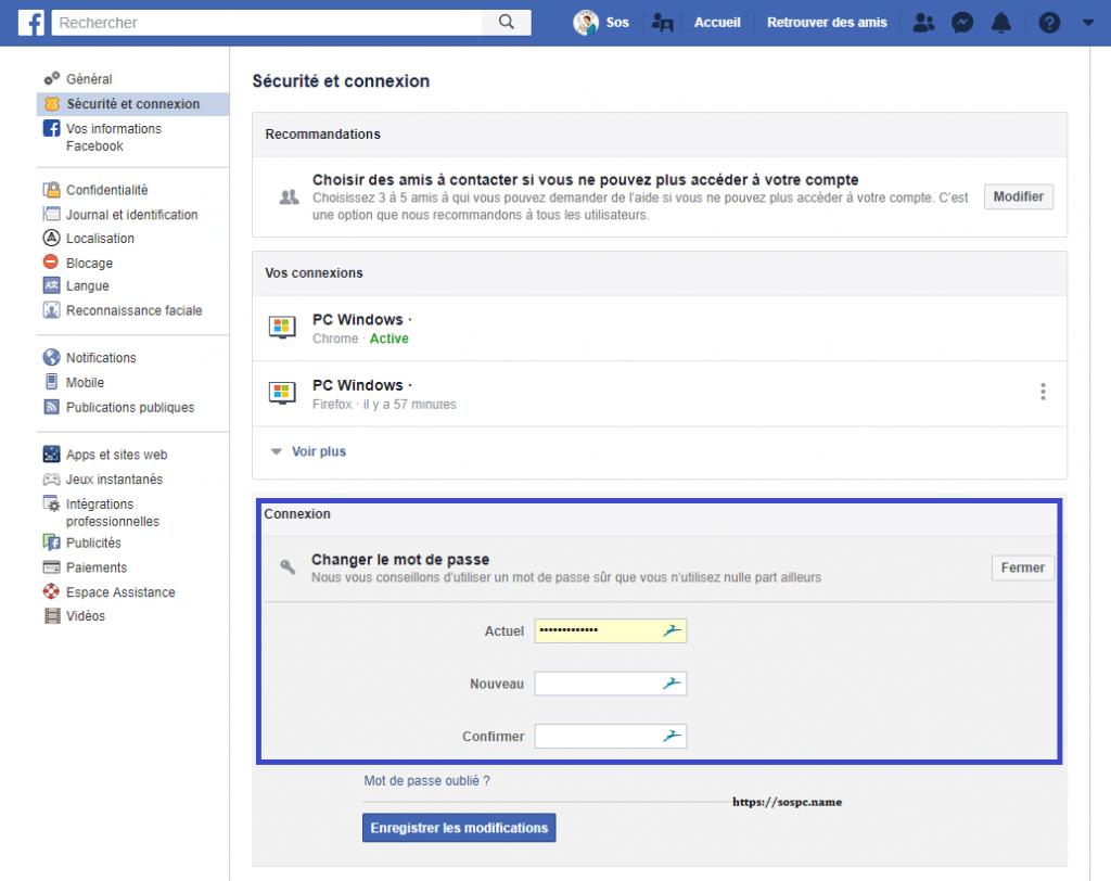Facebook 50 millions de comptes piratés, capture 4
