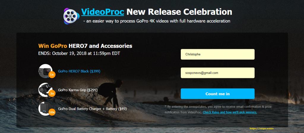 VideoProc : un logiciel de traitement vidéo puissant et complet. Concours.
