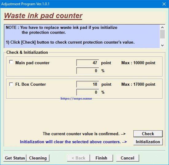imprimantes Epson tampons d'encre en fin de vie waste ink pas counter
