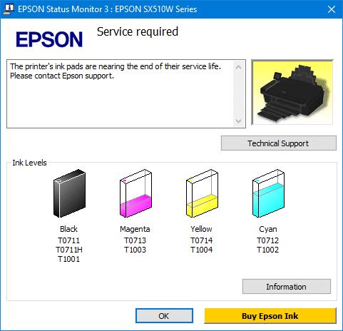 imprimante Epson bloquée la solution