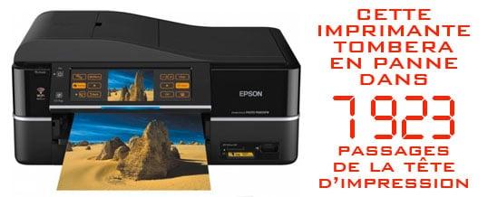 imprimante Epson bloquée message d'erreur
