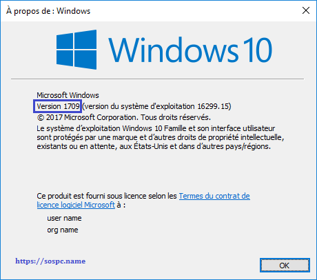 Windows 10 Redstone 5, 1809 tutoriel capture 1