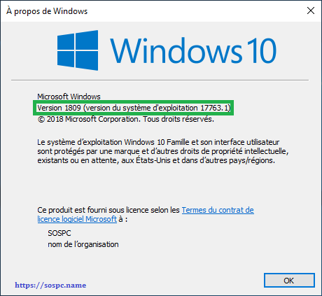 Windows 10 Redstone 5, 1809 tutoriel capture 19