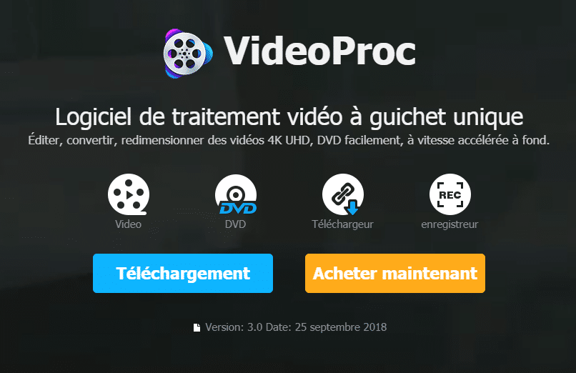 TELECHARGER VIDEOPROC EN FRANCAIS