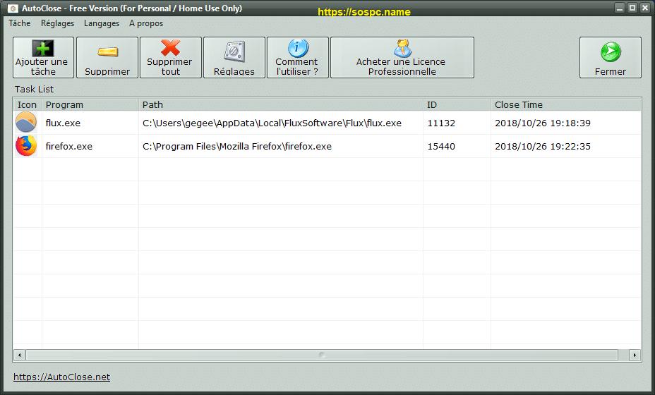 AutoClose tutoriel utilisation 8