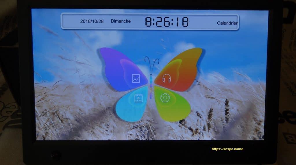 Cadre Photo Numérique avec Télécommande, réglages capture 8