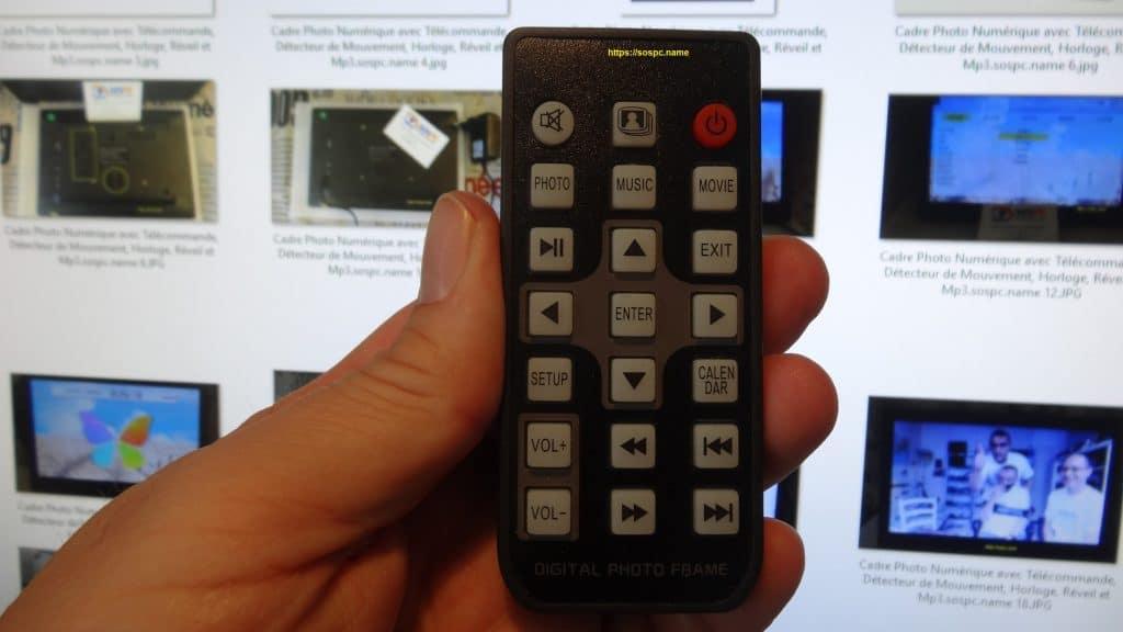 Cadre Photo Numérique avec Télécommande, réglages capture 14