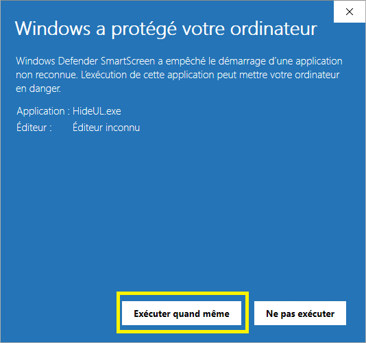 Hide From Uninstall masquer les programmes de l'explorateur image 4