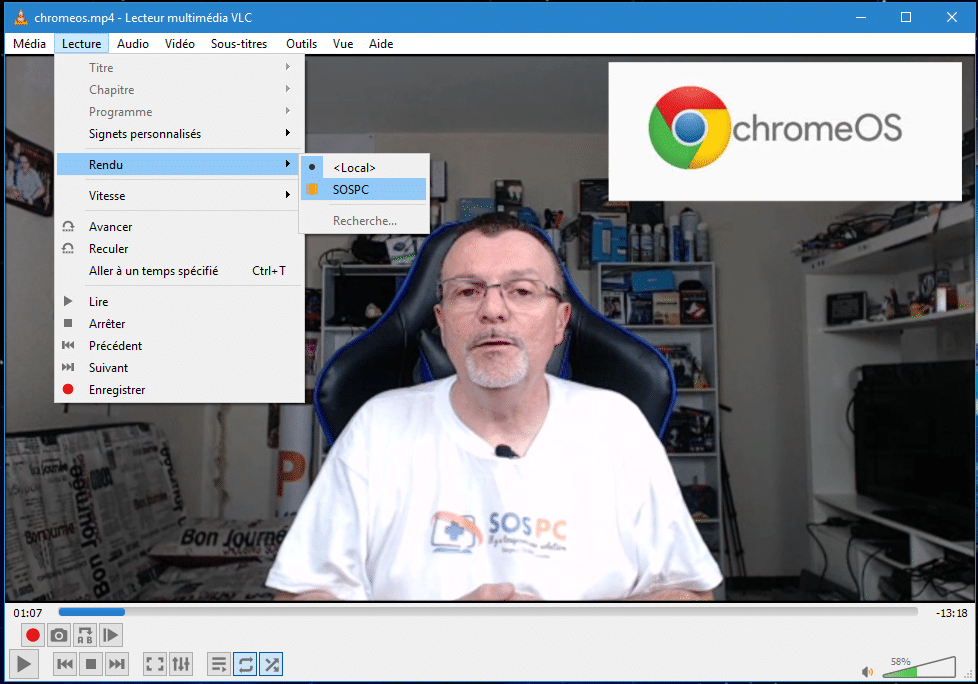 Comment utiliser Chromecast avec VLC Media Player  - SOSPC