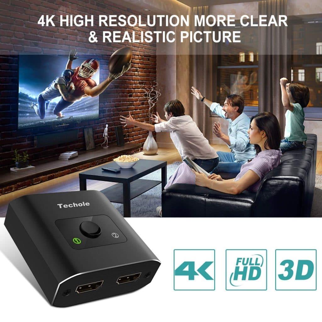 Le test du mois : un Commutateur HDMI HD 3D 1080P 4K Bi-directionnel.
