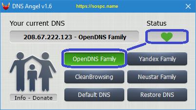 DNS Angel : protégez vos enfants capture 4