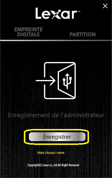 une Clé USB Lexar protégée par un lecteur d'empreinte image 3