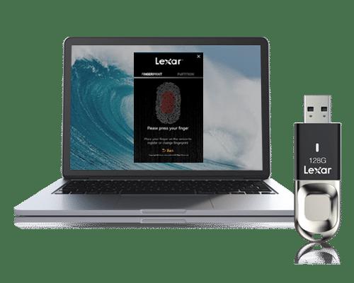 Le Test du mois : une Clé USB Lexar protégée par un lecteur d'empreinte !