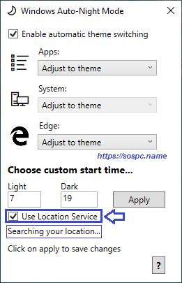 activer automatiquement le thème sombre sous Windows 10 1809 image 9