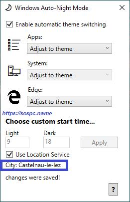 activer automatiquement le thème sombre sous Windows 10 1809 image 10