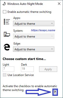 activer automatiquement le thème sombre sous Windows 10 1809 image 13