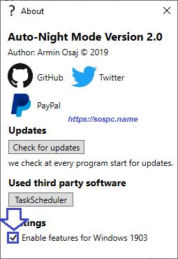 activer automatiquement le thème sombre sous Windows 10 1809 image 14