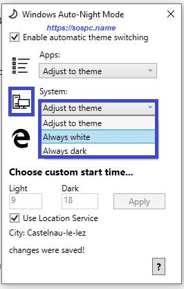 activer automatiquement le thème sombre sous Windows 10 1809 image 15