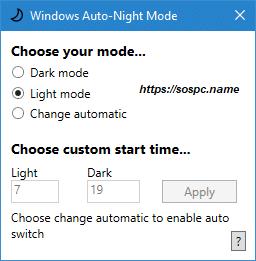 activer automatiquement le thème sombre sous Windows 10 1809 image 7