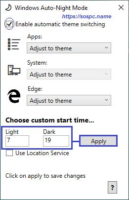 activer automatiquement le thème sombre sous Windows 10 1809 image 8